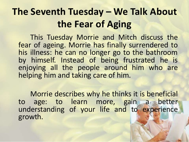 summary of tuesdays with morrie Tuesdays with morrie chapter 5 summary brief summary of chapter 5 in tuesdays with morrie book.